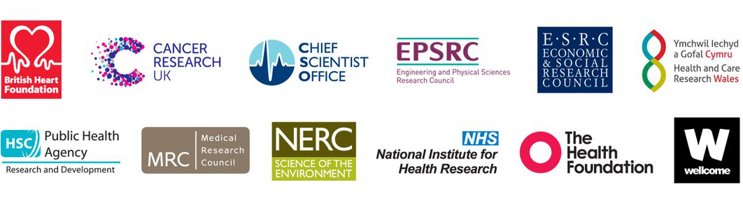 Logos for the partner organisations in the UKPRP, including the Health Foundation